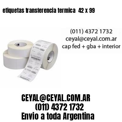 etiquetas transferencia termica  42 x 99