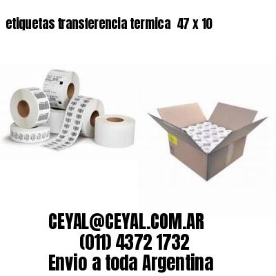 etiquetas transferencia termica  47 x 10