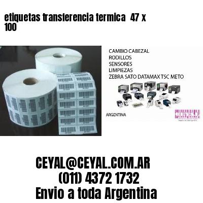 etiquetas transferencia termica  47 x 100