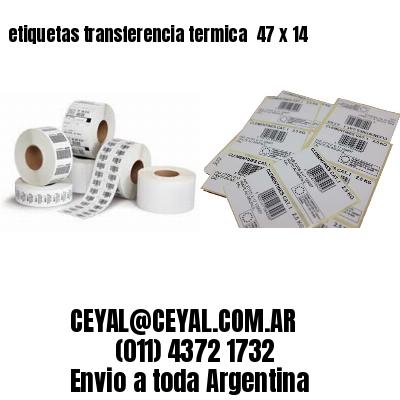 etiquetas transferencia termica  47 x 14