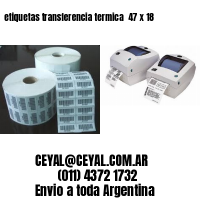 etiquetas transferencia termica  47 x 18