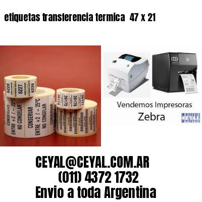 etiquetas transferencia termica  47 x 21