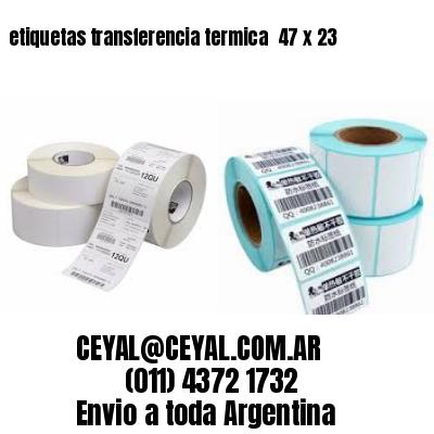 etiquetas transferencia termica  47 x 23