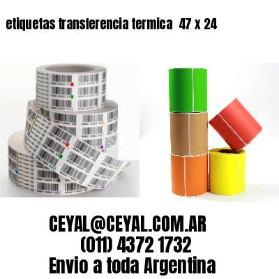 etiquetas transferencia termica  47 x 24