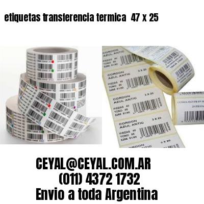 etiquetas transferencia termica  47 x 25