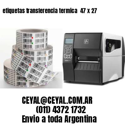 etiquetas transferencia termica  47 x 27