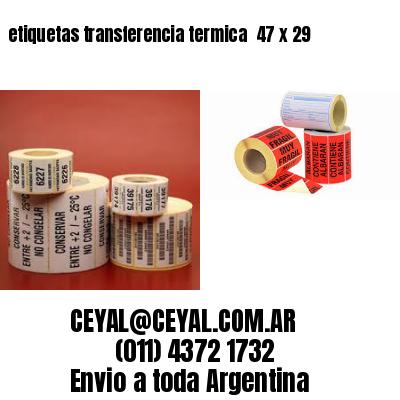 etiquetas transferencia termica  47 x 29