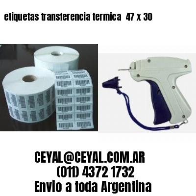 etiquetas transferencia termica  47 x 30