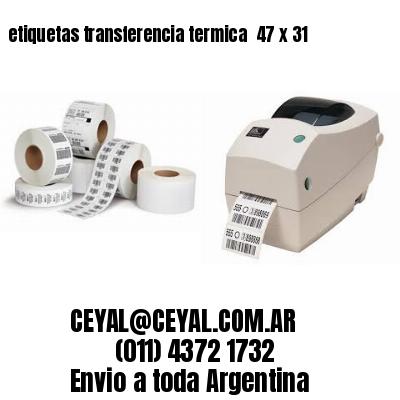 etiquetas transferencia termica  47 x 31