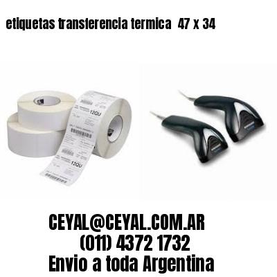 etiquetas transferencia termica  47 x 34