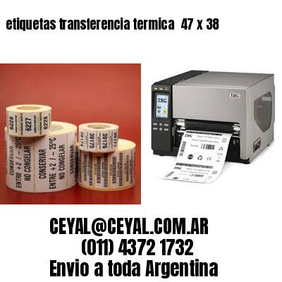 etiquetas transferencia termica  47 x 38