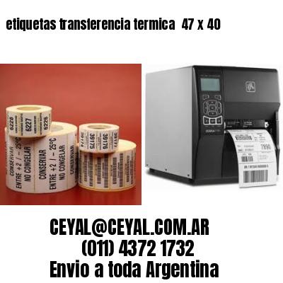 etiquetas transferencia termica  47 x 40