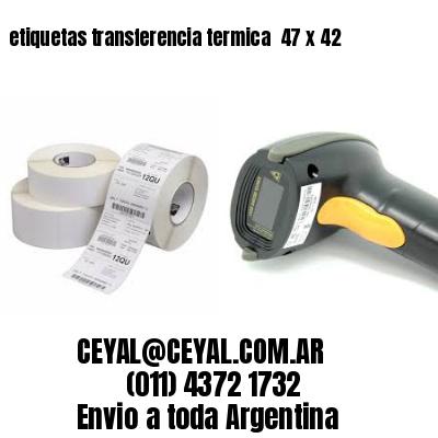 etiquetas transferencia termica  47 x 42