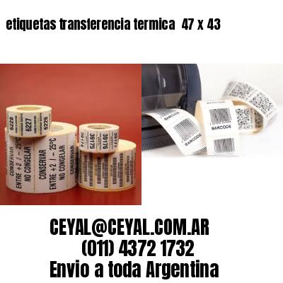 etiquetas transferencia termica  47 x 43