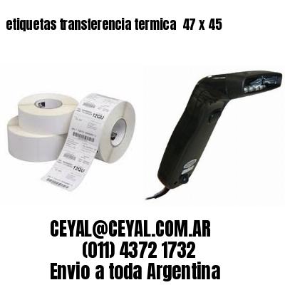 etiquetas transferencia termica  47 x 45