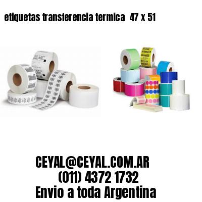 etiquetas transferencia termica  47 x 51