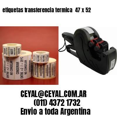 etiquetas transferencia termica  47 x 52
