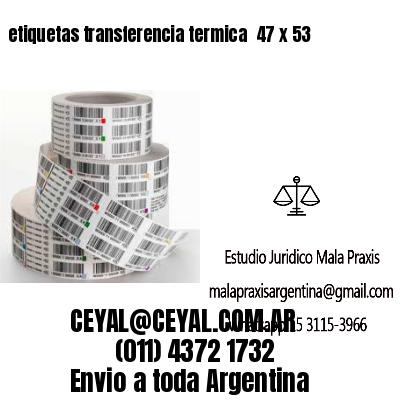 etiquetas transferencia termica  47 x 53