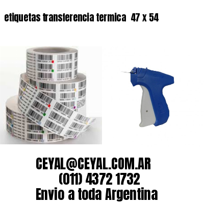 etiquetas transferencia termica  47 x 54