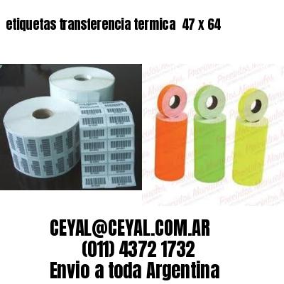 etiquetas transferencia termica  47 x 64
