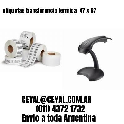 etiquetas transferencia termica  47 x 67