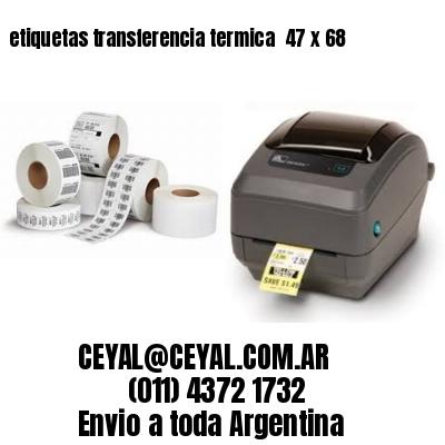etiquetas transferencia termica  47 x 68