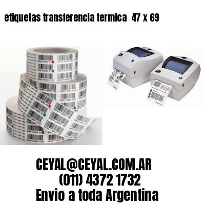 etiquetas transferencia termica  47 x 69