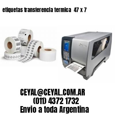 etiquetas transferencia termica  47 x 7