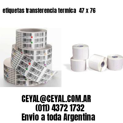 etiquetas transferencia termica  47 x 76