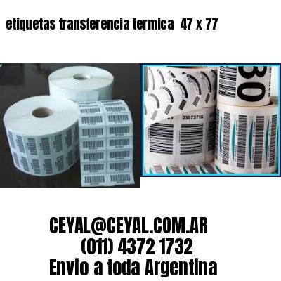 etiquetas transferencia termica  47 x 77