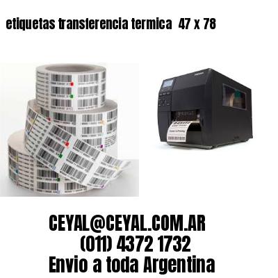 etiquetas transferencia termica  47 x 78