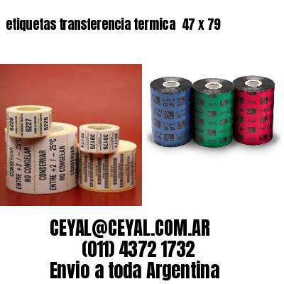 etiquetas transferencia termica  47 x 79