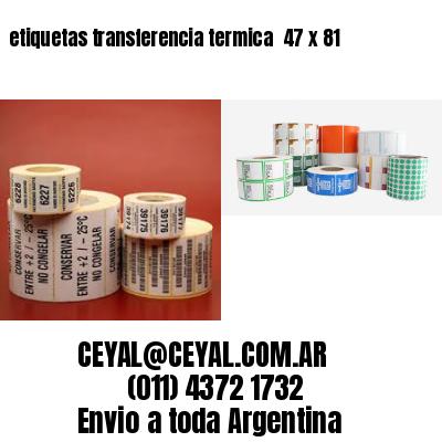 etiquetas transferencia termica  47 x 81