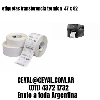 etiquetas transferencia termica  47 x 82