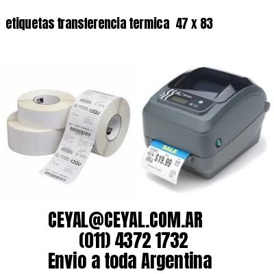 etiquetas transferencia termica  47 x 83