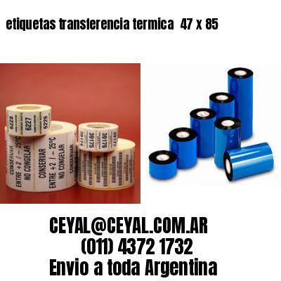 etiquetas transferencia termica  47 x 85