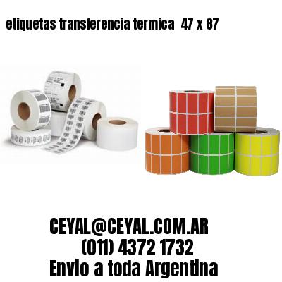 etiquetas transferencia termica  47 x 87