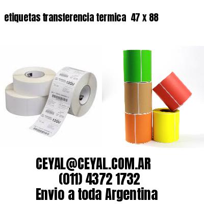 etiquetas transferencia termica  47 x 88