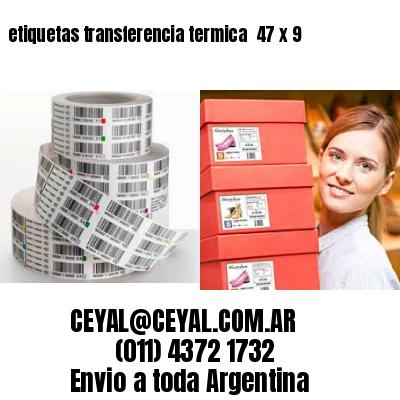 etiquetas transferencia termica  47 x 9