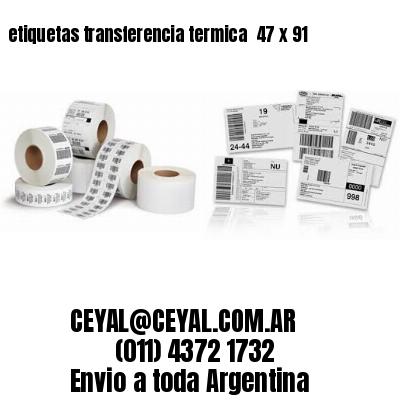 etiquetas transferencia termica  47 x 91