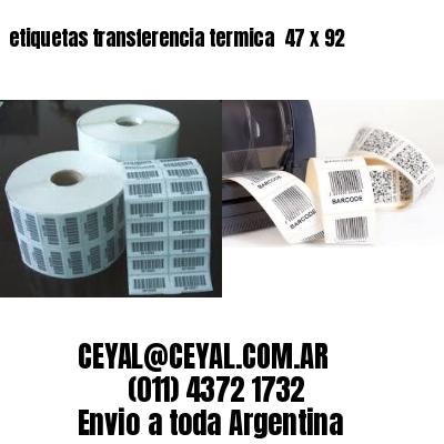 etiquetas transferencia termica  47 x 92