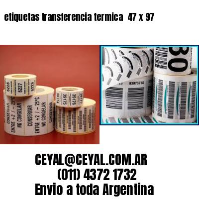 etiquetas transferencia termica  47 x 97