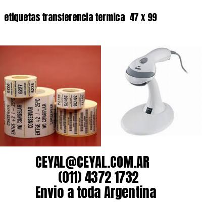 etiquetas transferencia termica  47 x 99