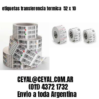 etiquetas transferencia termica  52 x 10