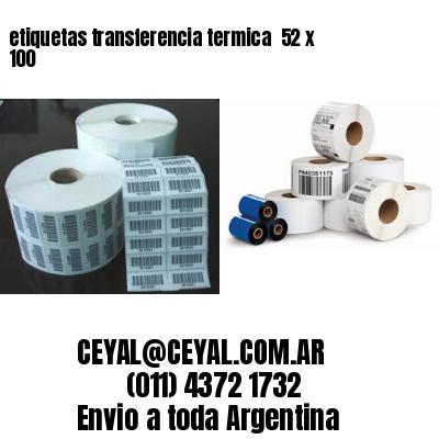 etiquetas transferencia termica  52 x 100
