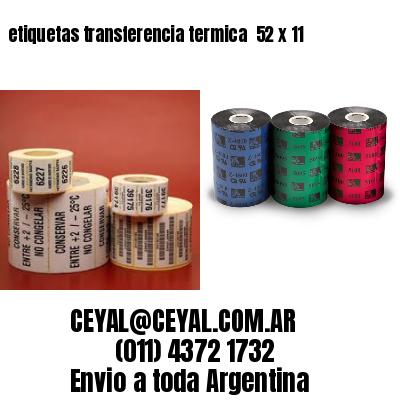 etiquetas transferencia termica  52 x 11