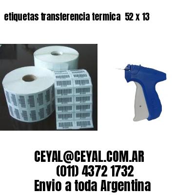 etiquetas transferencia termica  52 x 13