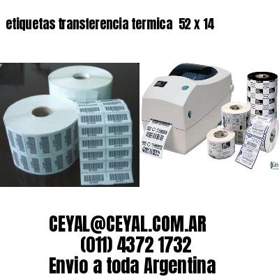 etiquetas transferencia termica  52 x 14