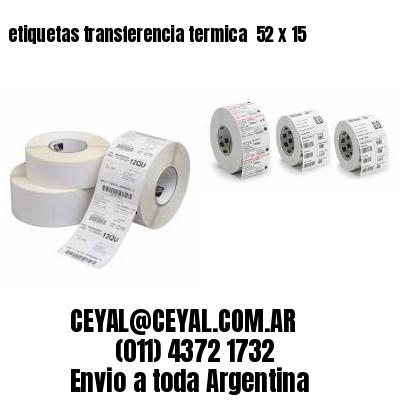 etiquetas transferencia termica  52 x 15