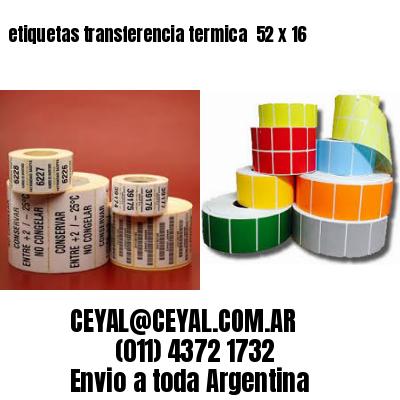 etiquetas transferencia termica  52 x 16